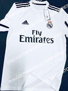 fd8027fc7 Image is loading Real-Madrid-Adidas-2018-2019-Original-Home-Soccer-