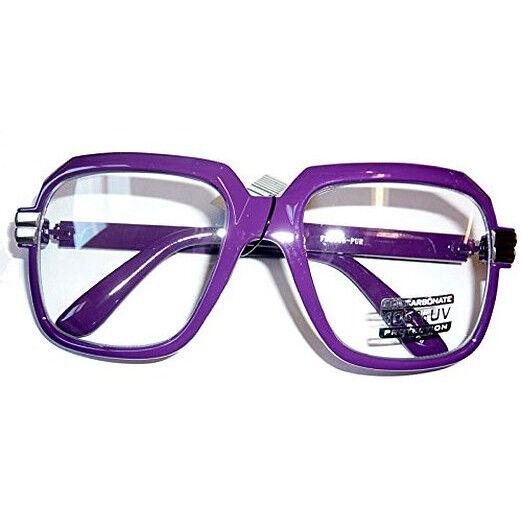 Oversized Purple Hip Hop Glasses Rapper Run DMC Gazelle Rap Sunglasses 80s Metal
