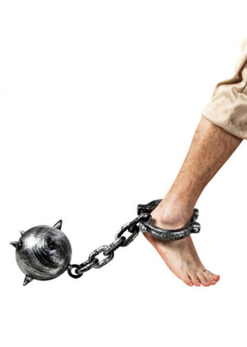 Medieval Fancy Dress Spiked Ball and Chain