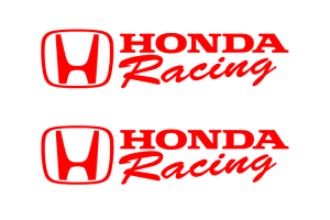 Honda Racing Decal Red Sticker Civic Accord Crx Turbo Si