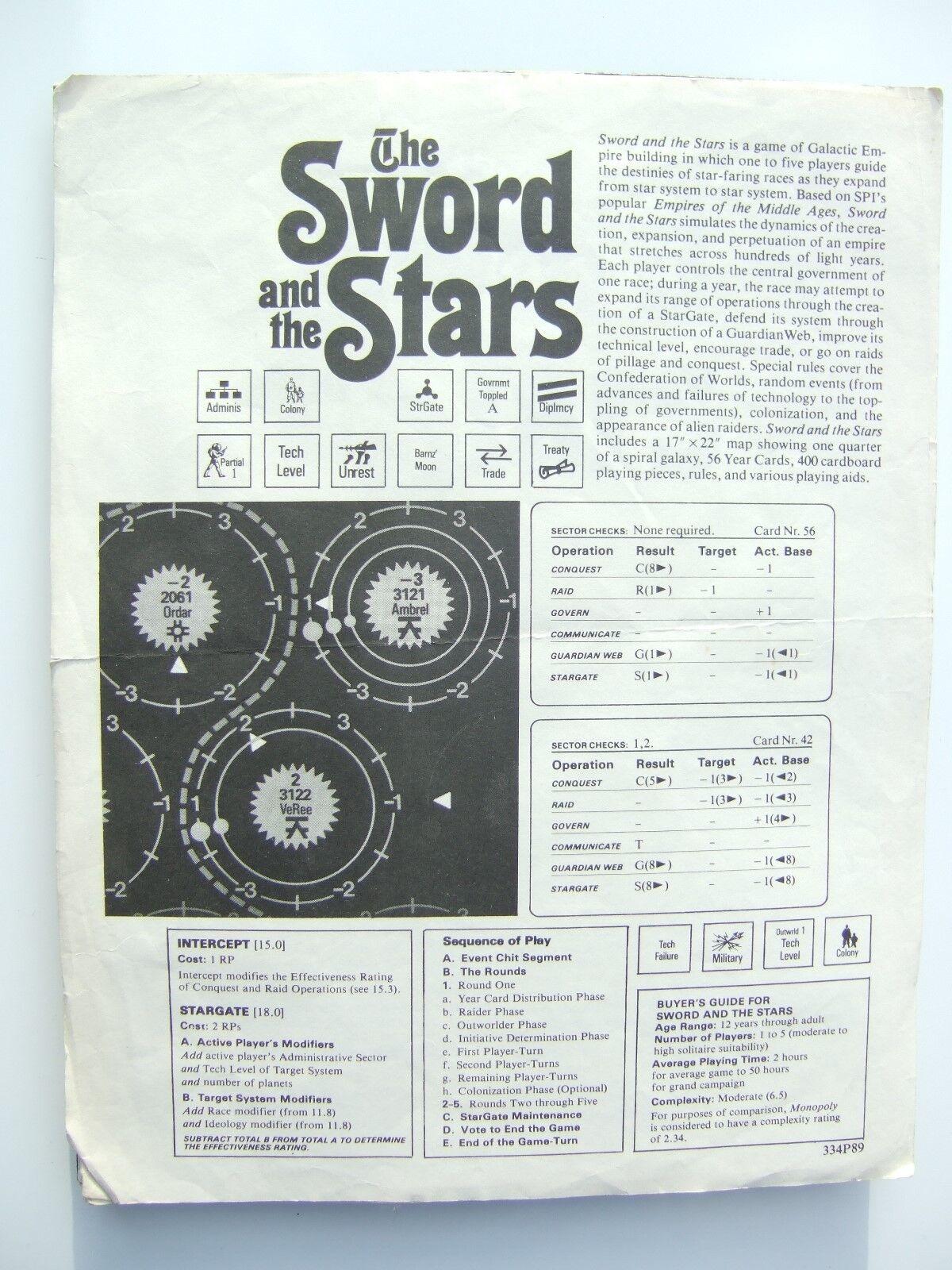 negozio fa acquisti e vendite La spada e e e le stelle DA SPI  vendita online