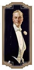 "Waterslide Decals (4pcs 2.5""x3.5"") FLONZ 412-0320 Vintage Man Portrait Gentleman"