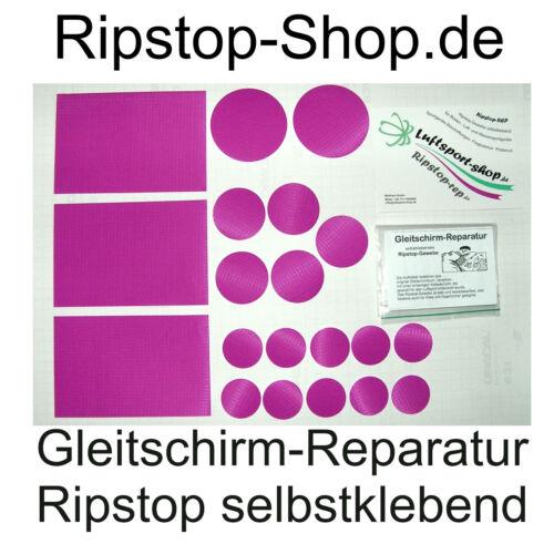 Kit de réparation-Gleitschirm/Cerf-volant impriment-Ripstop robuste-Arc * tampons 20 pièces,