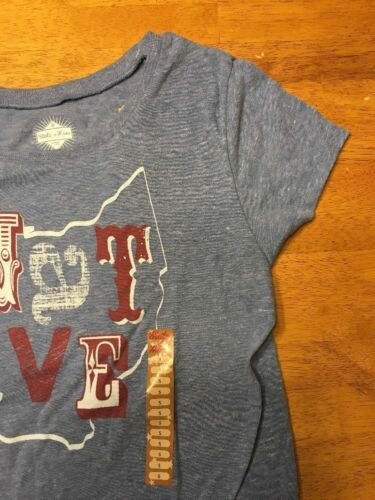 NWT State Of Mine Women/'s Blue Short Sleeve Native Ohio T-Shirt Size Small