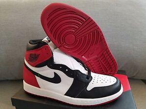 42f416ce0947 Nike air Jordan 1 Retro Black Toe SAMPLE KAWS DS red tow bred banned ...