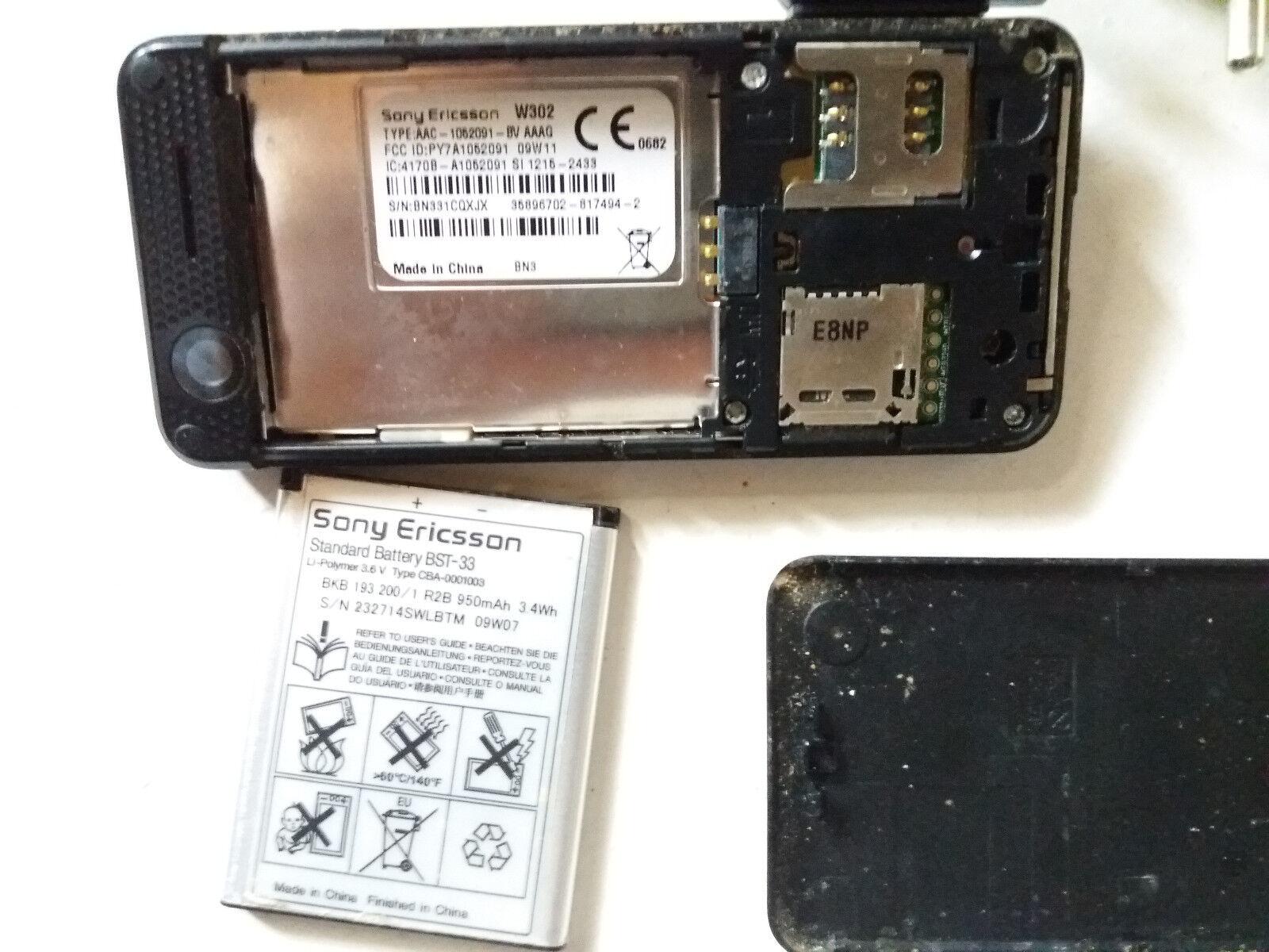 sony ericsson sony ericcson walkman w302 midnight black unlocked rh ebay com Sony Ericsson Mobile Phones Sony Ericsson Phones