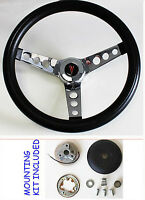 1964-1966 Pontiac Gto Grant Black Steering Wheel 13.5 13 1/2