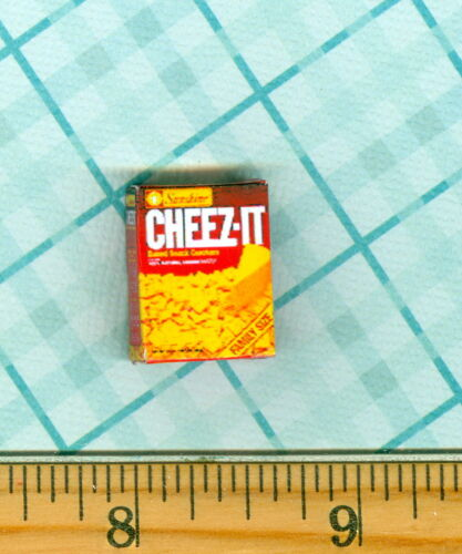 DOLLHOUSE MINIATURES Size Cheese Snack Cracker BOX