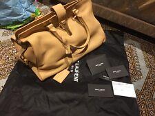 GENUINE YSL Sac Ligne Camel Colour Handbag NEW