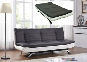 Image Is Loading Modern Sofa Bed 3 Seater Padded Futon Contemporary