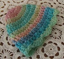 Handmade Crochet Baby Girl Hat  Variegated Newborn 3 Months