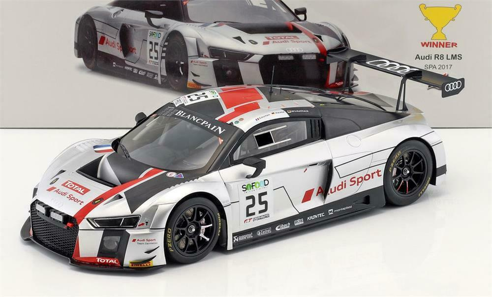 Audi R8 LMS No.25 Winner 24H SPA 2017 in 1 18 Scale by Spark