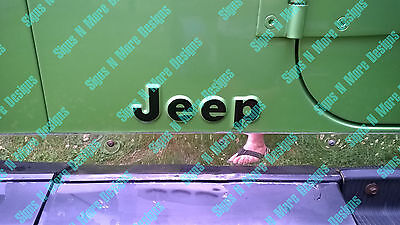 Decals For A Cj Yj Jeep Letters Replacement Fender Vinyl