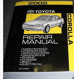 2002 toyota corolla service repair workshop shop manual oem factory rh ebay com 2003 Toyota Corolla Interior 2001 Toyota Corolla