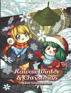 Details About Kawaii Winter Christmas Adult Colouring Book Gift Cute Japanese Anime Manga Noel