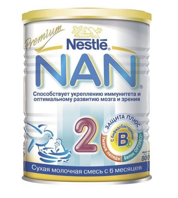 Молочная смесь 2, 800 г НАН (NAN)