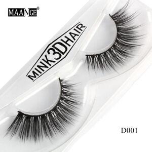 e74f43a4f89 Hot 100% 3D Mink Soft Long Natural Thick Makeup Eye Lashes False ...