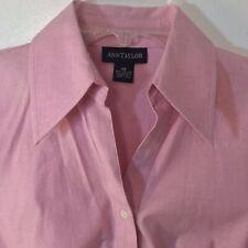 NWT Ann Taylor Striped Silky Long Sleeve Shirt   $79.50  Pink Stripe