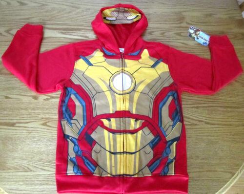 Iron Man 3 Mark 42 Child Costume Hoodie Marvel Comics Long Sleeve Red Gold NWT