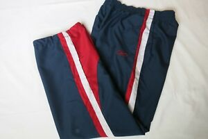 new concept f49e2 23985 Image is loading Reebok-Boys-Youth-Pants-Medium-Blue-Red-Striped-