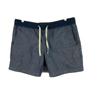 Country-Road-Mens-Shorts-Size-36-Grey-Elastic-Waist-Drawstring-Pockets