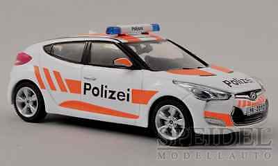 "CH wonderful diecast modelcar HYUNDAI VELOSTER /""POLIZEI /"" 2012-1//43 ltd."