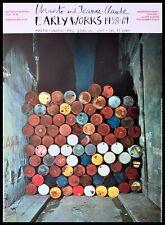 Christo Rue Visconti Paris Berlin Poster Kunstdruck mit Alu Rahmen 84,1x59,4cm