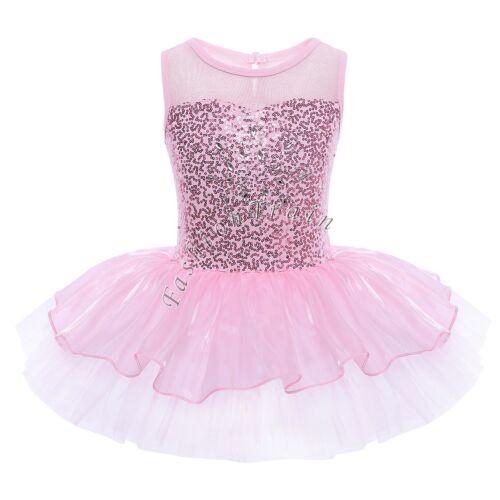 Ballet Leotard Tutu Dress Girls Kid Toddler Princess Dress Up Dance Wear Costume