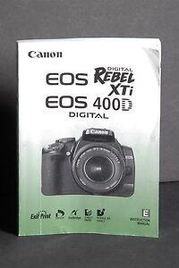 canon genuine eos 400d xti digital camera instruction book rh ebay com
