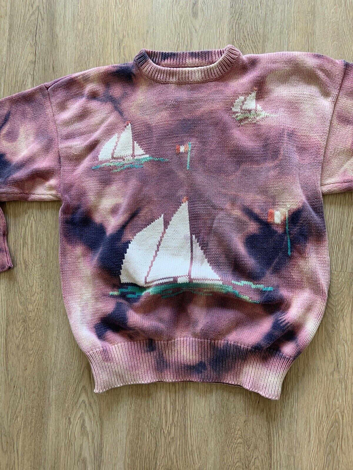 Tiedye Tie Dye Sweater VINTAGE - image 5