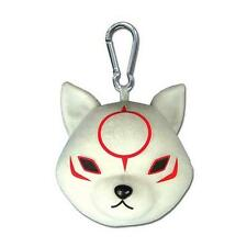 "E-CAPCOM Official Licensed 5"" Okamiden OKAMI CHIBITERASU PLUSH KeyChain Bag CLIP"