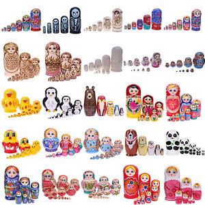 1Set-Russische-Matroschka-Babuschka-Matrjoschka-Holz-Puppe-Baby-Kinder-Spiezeug
