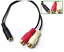 Dual-RCA-Female-to-3-5mm-Female-Stereo-Splitter-Cable thumbnail 1
