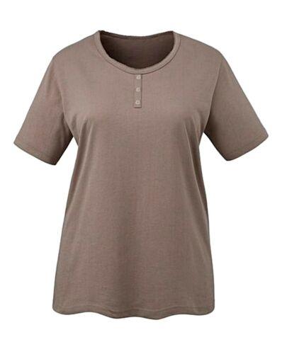 Sera donne indossare comodi T Shirt Tops-Crema//Beige Taglie 12,14,16,18,24,26,32,34 *