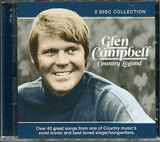 GLEN CAMPBELL COUNTRY LEGEND - 2 CD BOX SET - CRYING, RHINESTONE COWBOY & MORE