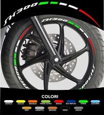 Kit Adesivi Cerchi Moto Ruote SH 300 Tricolore