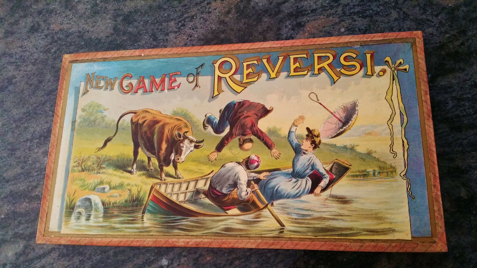 Mcloughlin Brothers The Game Of Reversie circa very old.   Ages 18+