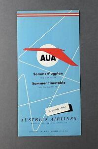 AUSTRIAN-AIRLINES-TIMETABLE-SUMMER-1958-AUA