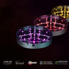 "6"" LED Light Base Vase Crystals Centrepiece Wedding Party Decor Remote Control"