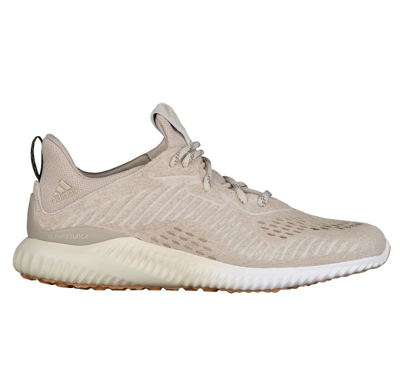 Adidas Alphabounce Lea Mens BY3122 Clear Light Brown Running Shoes Comfortable