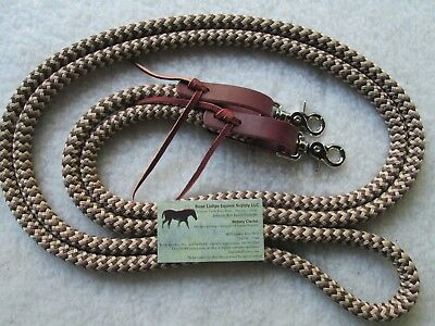 9/' YACHT ROPE BLACK//BROWN//TAN FINESSE REIN FOR PARELLI TRAINING METHOD