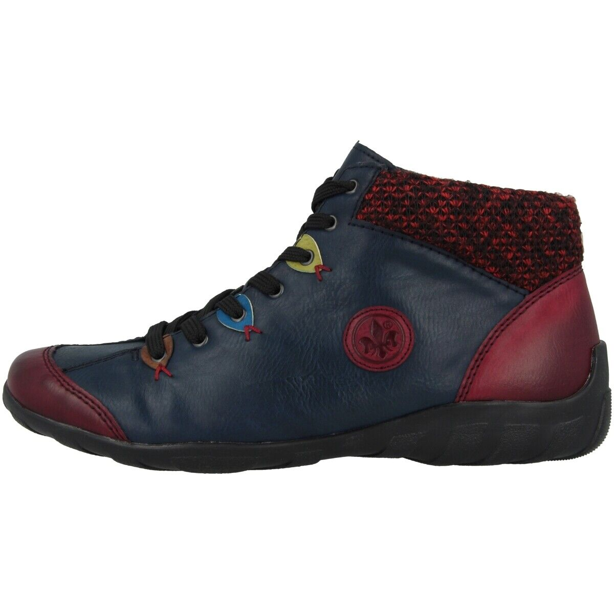 Rieker eagle-leeds shoes antistress slippers high top boots navy wine