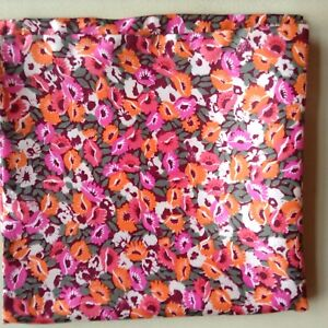 Autumn flowers Liberty of London silk pocket square