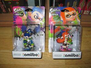 Lote-Amiibo-Splatoon-Inkling-Boy-amp-Girl-Nuevo-y-Precintado-Nintendo-Switch