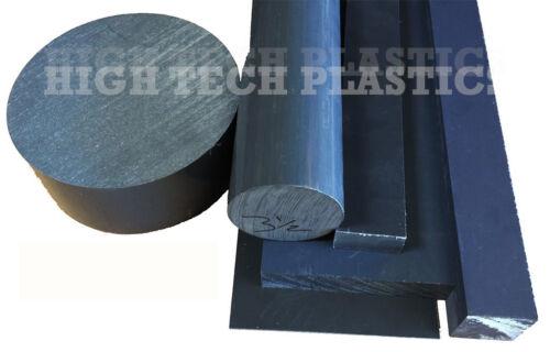 "7/"" by 12/"" Inch Long Gray Color PVC Rod Plastic Polyvinyl Chloride Bar Rail"