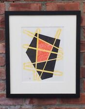 """Original Dwinell Grant Geometric Abstract Painting. """"Untitled"""". 1990. Signed"""