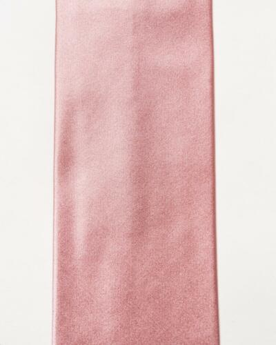 """Isaia Napoli NWT $230 Solid Pink Satin 100/% Silk Classic Tie 3.5"""""""