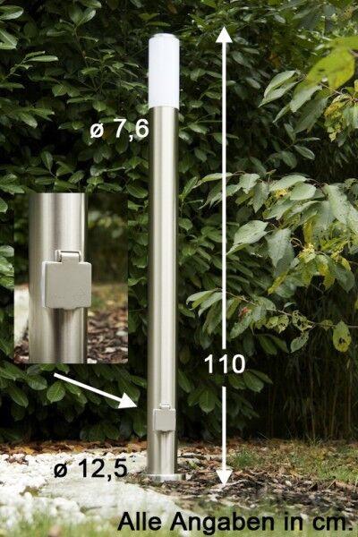 Lámpara exterior de acero inoxidable lámpara exterior con enchufe pie lámpara lámpara de pie lámpara Stand