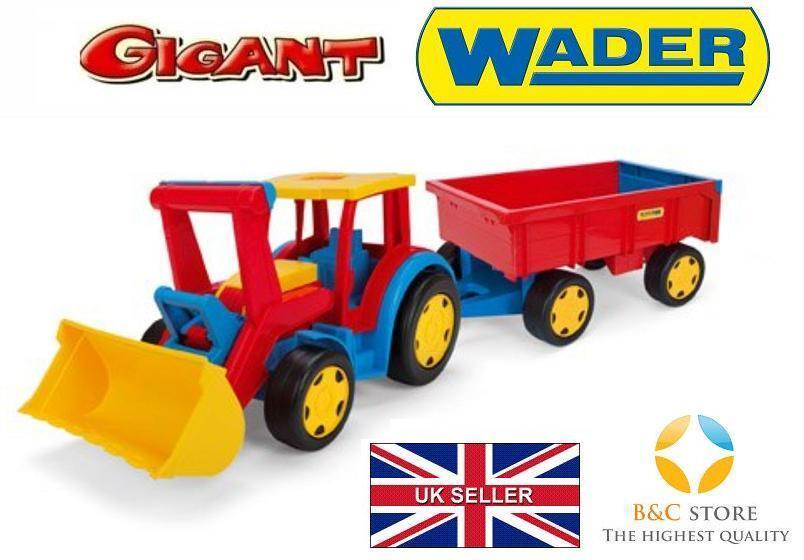 nouveau géant tracteur avec remorque et shoveltrolley Kids Wader 66300 Sable Top