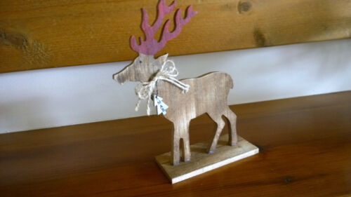 Freestanding Christmas Decoration Wooden Reindeer